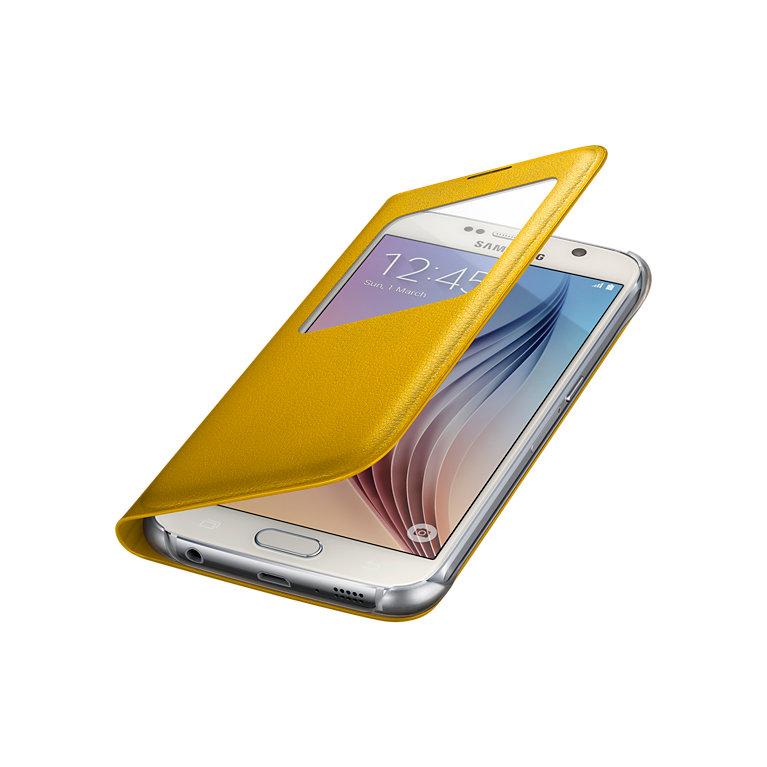 ~169~Samsung Galaxy S6 透視感應皮套 ^(類皮革^)^(三星 盒裝