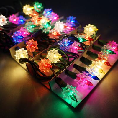 聖誕燈~鑽石燈串 ^(35燈^)^(鎢絲燈^)^(可搭聖誕樹^)