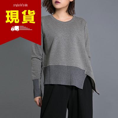 ~ ~StyleInside~不規則拼接寬鬆版精梳棉tee上衣 二色~STA6110009