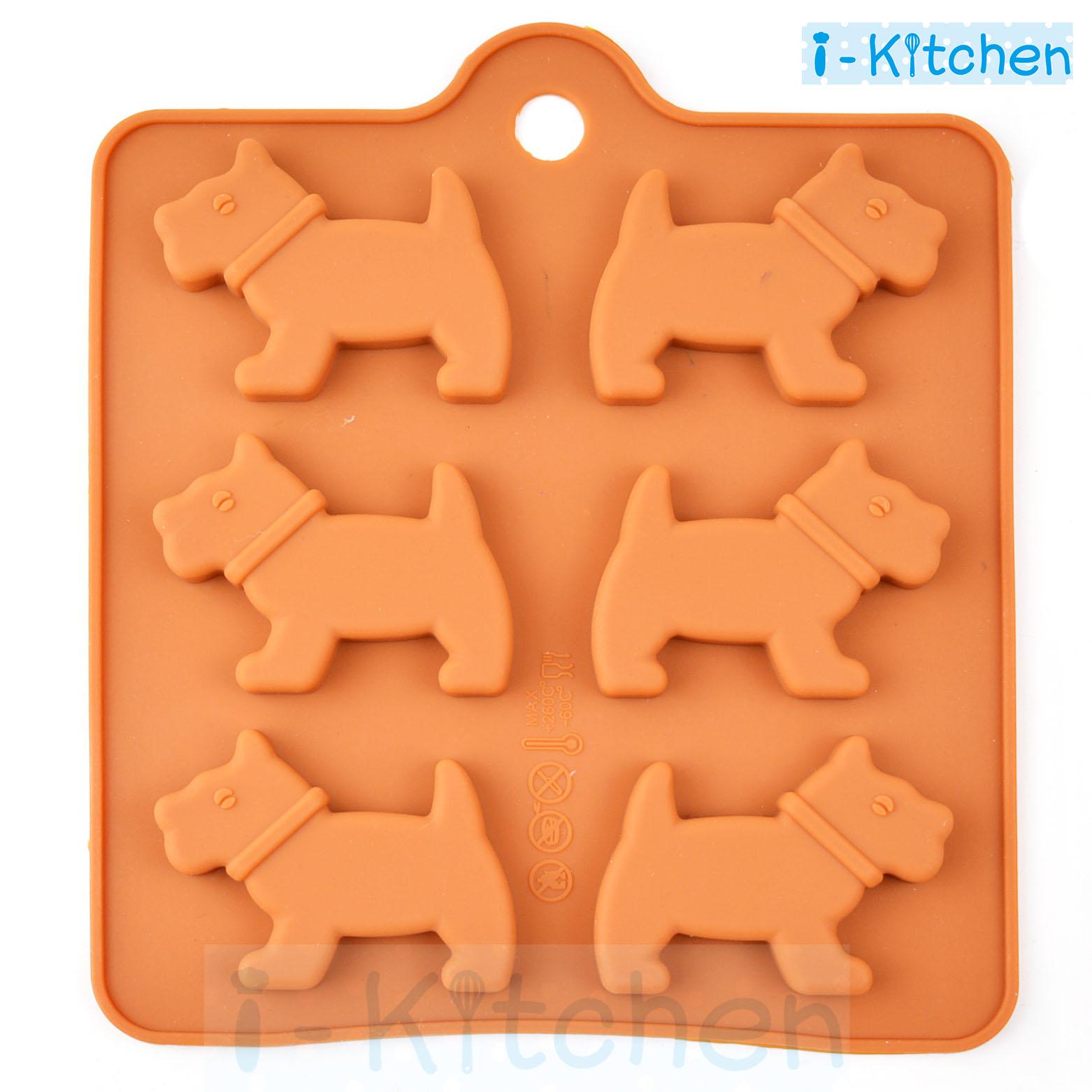 愛廚房^~小狗狗巧克力模具 矽膠模具 果凍冰塊模 I~Kitchen