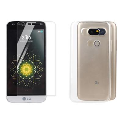 ~Myshell 超薄防護套組~LG G5 極致超薄保護殼 鋼化玻璃保護貼
