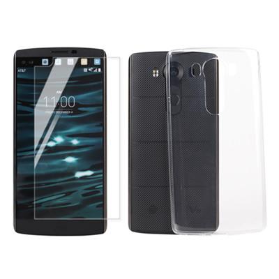 ~Myshell 超薄防護套組~LG V10 極致超薄保護殼 鋼化玻璃保護貼