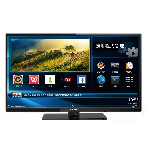 【RANSO聯碩】24型智慧聯網液晶電視+視訊盒24RS-I6A