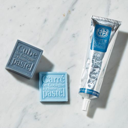 【Graine de pastel】菘藍暢銷香氛滋養潔膚組(菘藍皇家身體乳150ml+菘藍方皂-深夜藍125g+菘藍方皂-天空藍25g)
