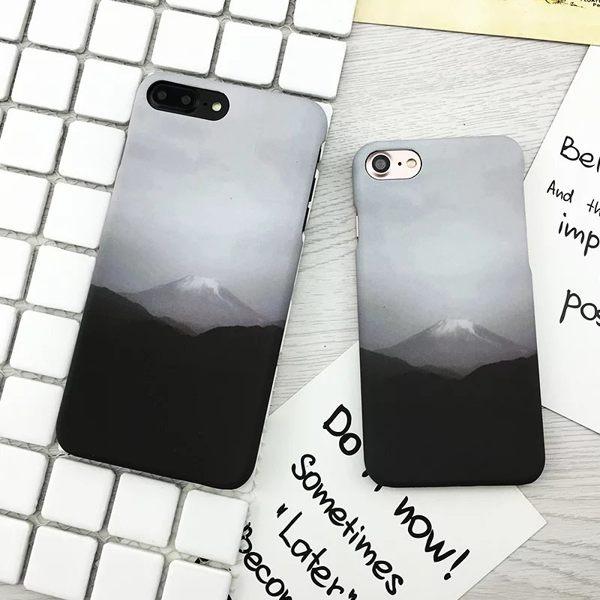 iPhone I6 S i7 PLUS 帥男  文藝 文青 灰階黑白 富士山 磨砂 硬殼
