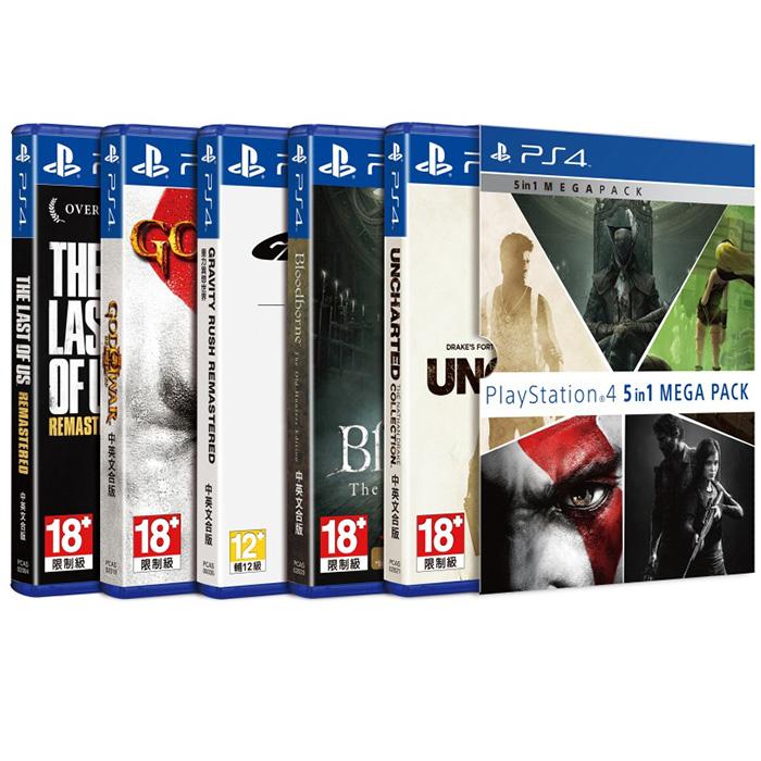 ~PS4~PlayStation 4 五合一 包 ^(重力異想世界 Remastered、
