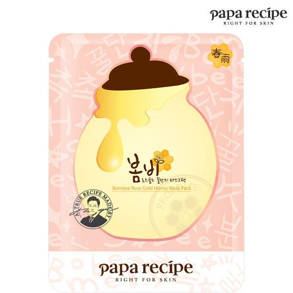 韓國 Papa recipe^~春雨玫瑰黃金蜂蜜面膜^(單片25ml^)~D321487~