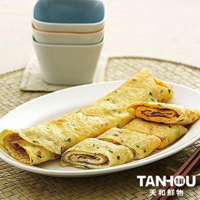 【冷凍店取-天和鮮物】橄欖油香蔥蛋餅皮(600g/包)
