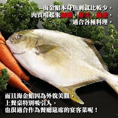 【冷凍店取-上野物產】大黃金鯧(800g,2隻)