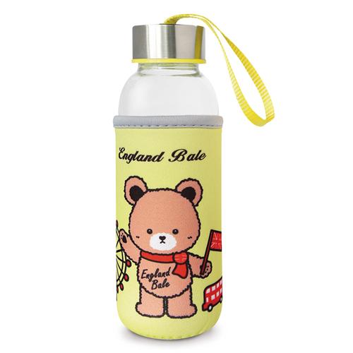 【英國貝爾】熊隨身玻璃瓶-黃(300ml)*1