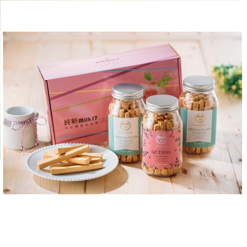 【純新milk17 】牛奶棒禮盒(3入裝)香醇濃厚限量優惠