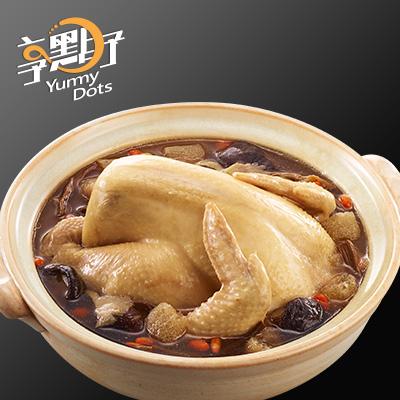 【冷凍店取-享點子】竹笙段木香菇雞湯(全雞)(2600g(固形物1000g))
