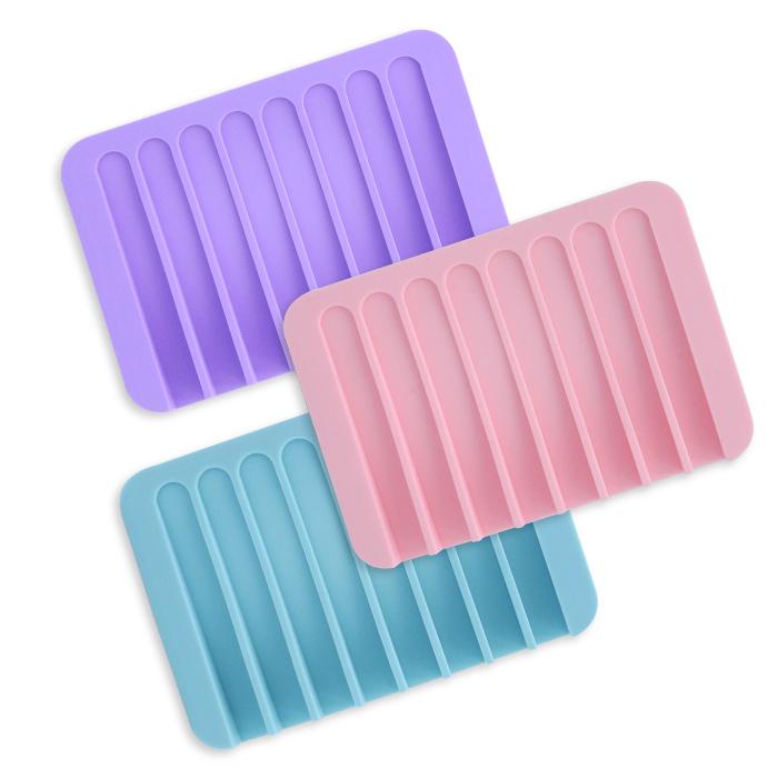 香皂盒防滑皂垫/沥水皂垫 乙入 随机出货不挑款/色【ROLI479C】