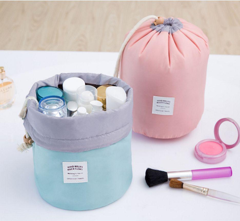 韩风圆筒化妆品收纳包