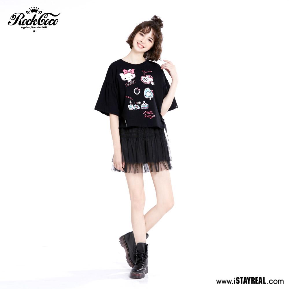 冻龄女神林心如为阿信STAYREAL首当设计师设计Hello Kitty系列潮T,服饰超漂亮!