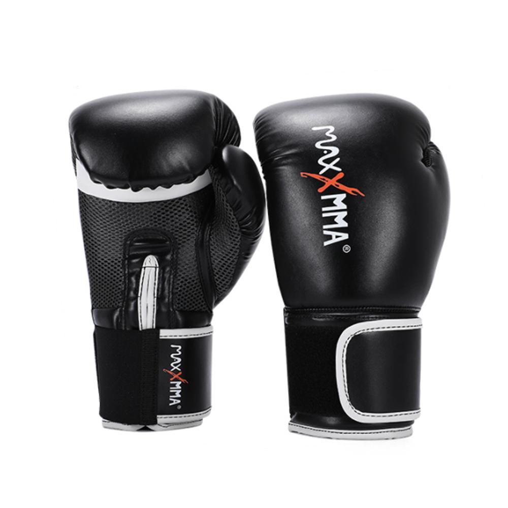 MaxxMMA 戰鬥款拳擊手套(黑)散打/搏擊/MMA/格鬥/拳擊