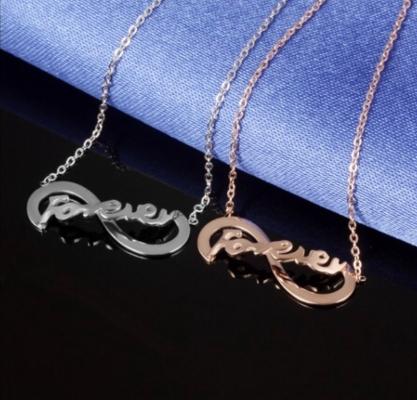 永无止境的爱钢钛项鍊饰品