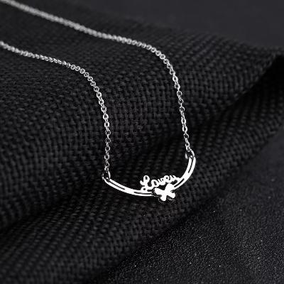 精致爱 锁骨钢钛项鍊饰品