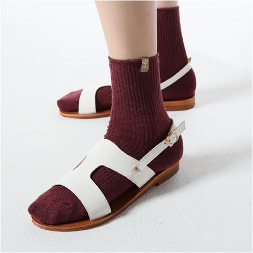 小树布标中筒袜-28294