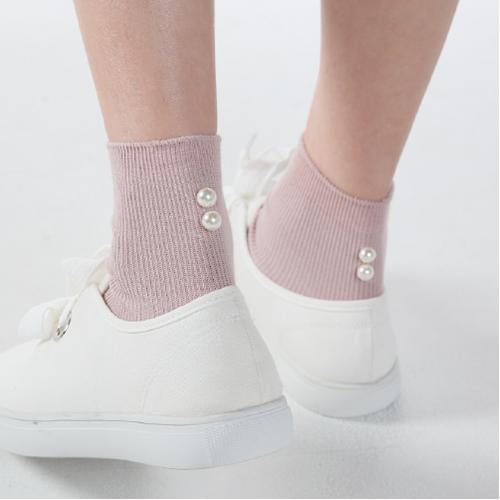 珍珠罗纹中筒袜-28287