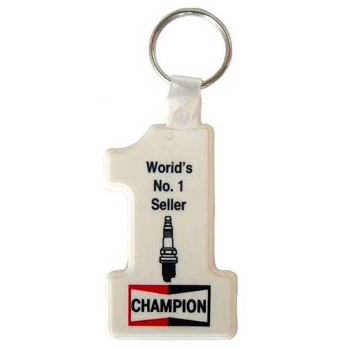 CHAMPION火星塞橡胶钥匙圈(白色)