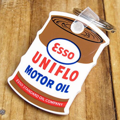 ESSO油桶造型橡胶钥匙圈(白配咖啡色)
