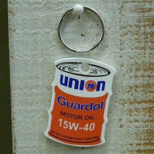 UNI76N油桶造型橡胶钥匙圈(白配橘红色)