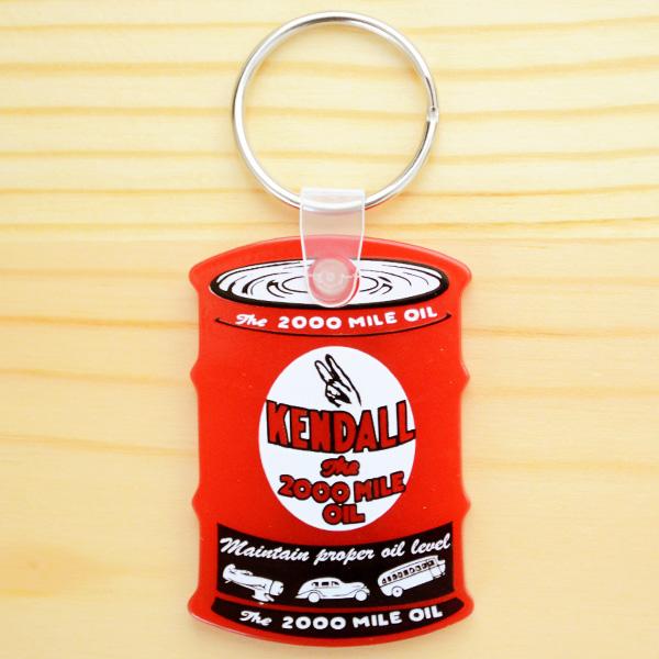 油桶造型橡胶钥匙圈(红色)