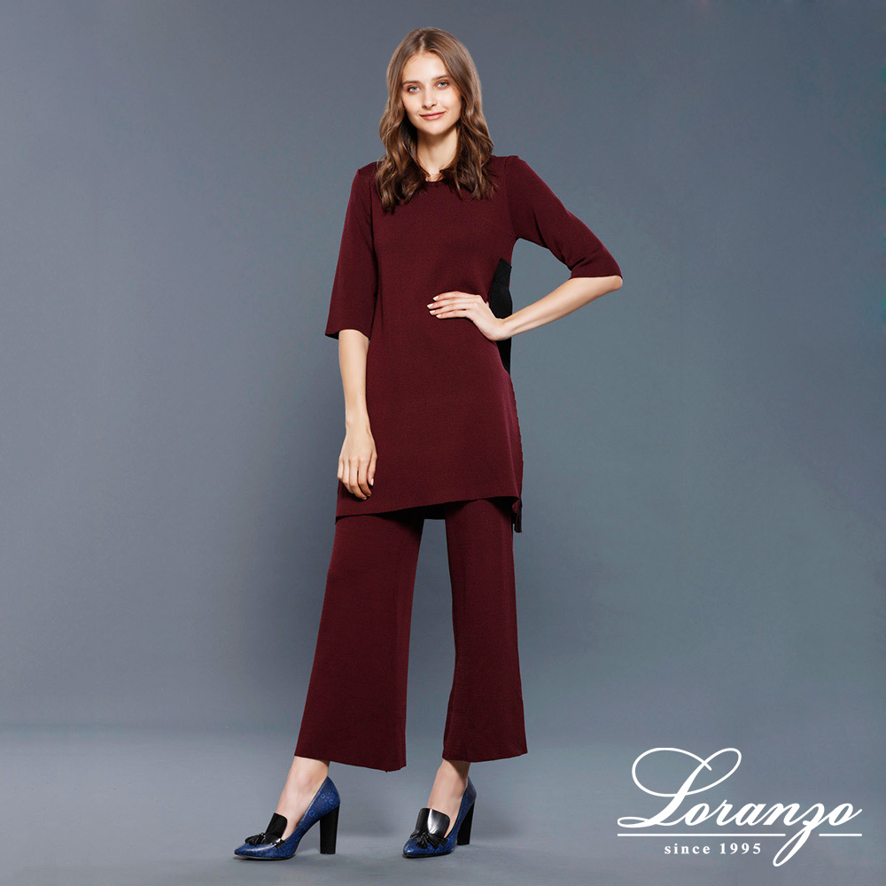 [ LORANZO ] 2017秋冬新品 七分袖长版上衣x纯色长裤套装 QAKC102  (仅在门市销售)