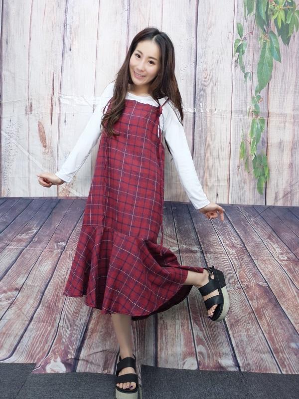 0628200 格子2件式裙套-2色-现+预
