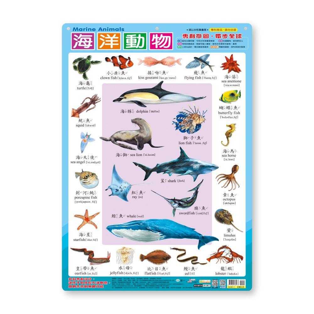 幼儿学习挂图:海洋动物 B2461-1