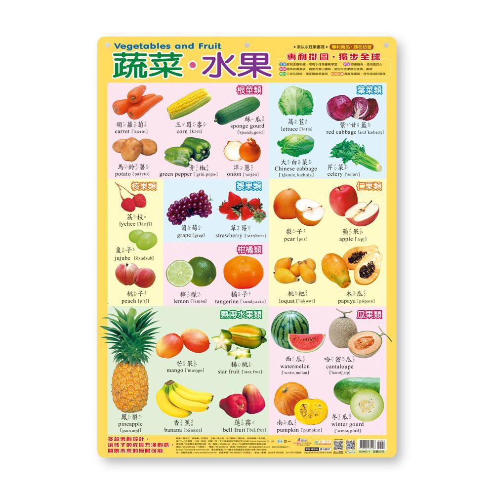幼儿学习挂图:蔬菜.水果 B2463-1