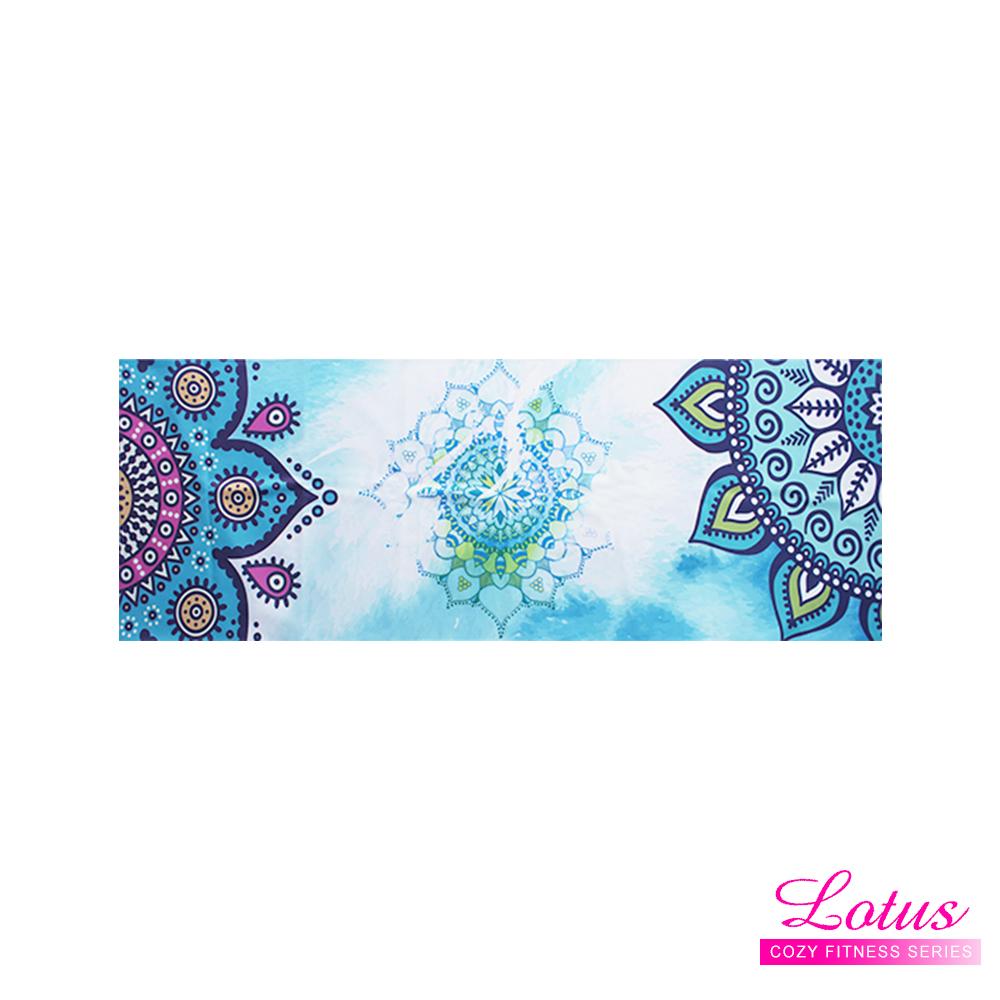 【LOTUS】静心曼陀罗-水洗式吸汗速干静坐瑜珈铺巾-蓝色冥想