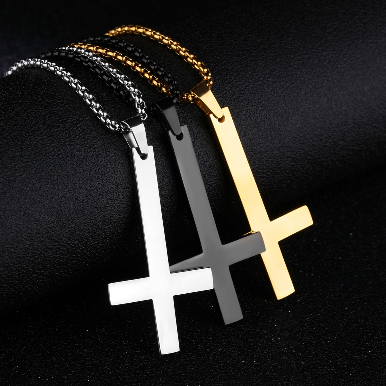 圣伯多禄逆十字架纯钢吊坠 | NST282YI