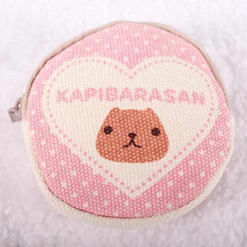Kapibarasan 水豚君愛心印花小零錢包