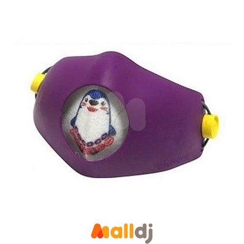 【Malldj亲子购物网】Hoooah  波卡卡通儿童可换双层抗菌防护口罩-企鹅紫 (防护面罩+3入补充滤材)【企鹅紫】 #PBC5408082010400