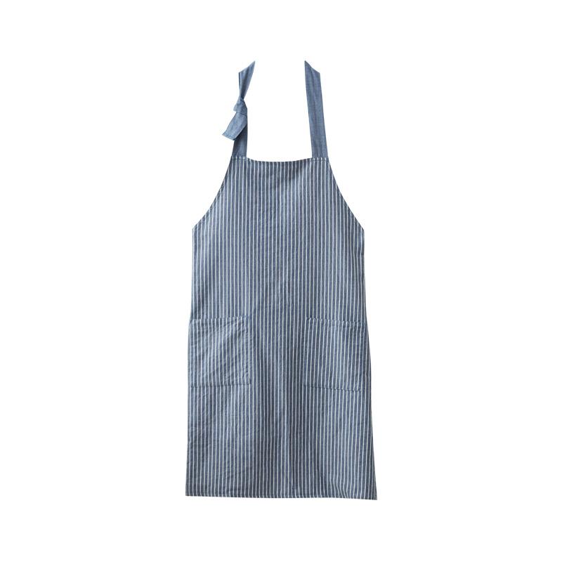 日式纯棉色织条纹围裙 3色可选 日式水洗棉 爱的简约式 严选生活