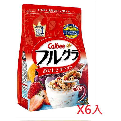 日本代购【Calbee】天然水果谷物麦片(800gx6袋)