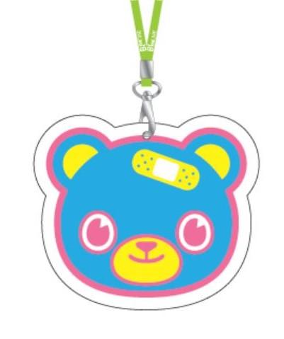 摇滚英熊挂鍊票夹(蓝)