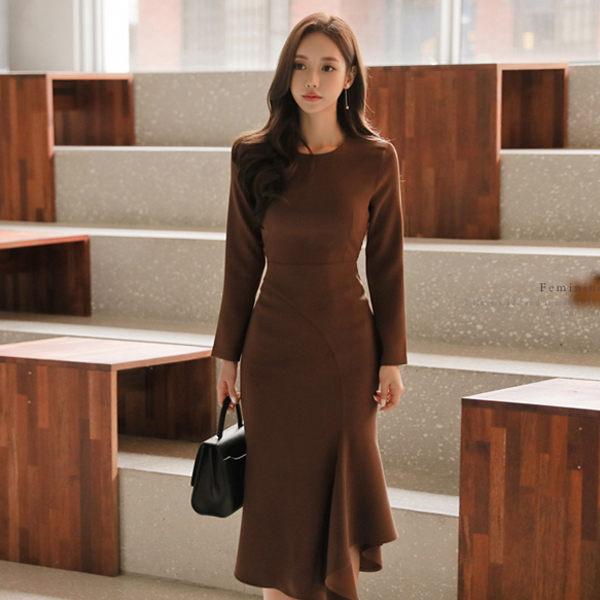 PS Mall OL气质收腰不规则连身裙 洋装【WT2012】