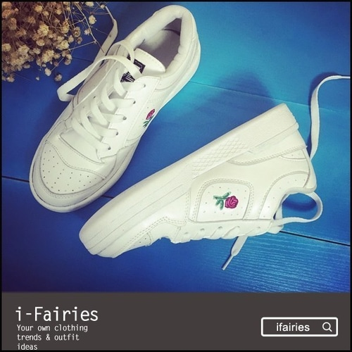 平底鞋跑步运动鞋小白鞋★ifairies【58034】★ifairies【58034】