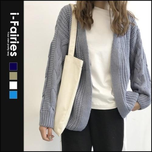 毛衣开衫长袖针织外套上衣★ifairies【61544】
