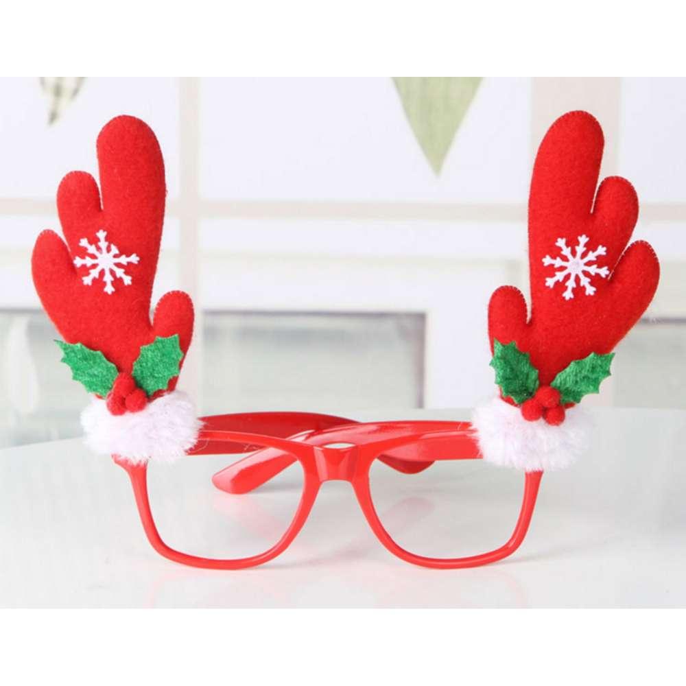 【摩达客】圣诞派对造型眼镜-红鹿角