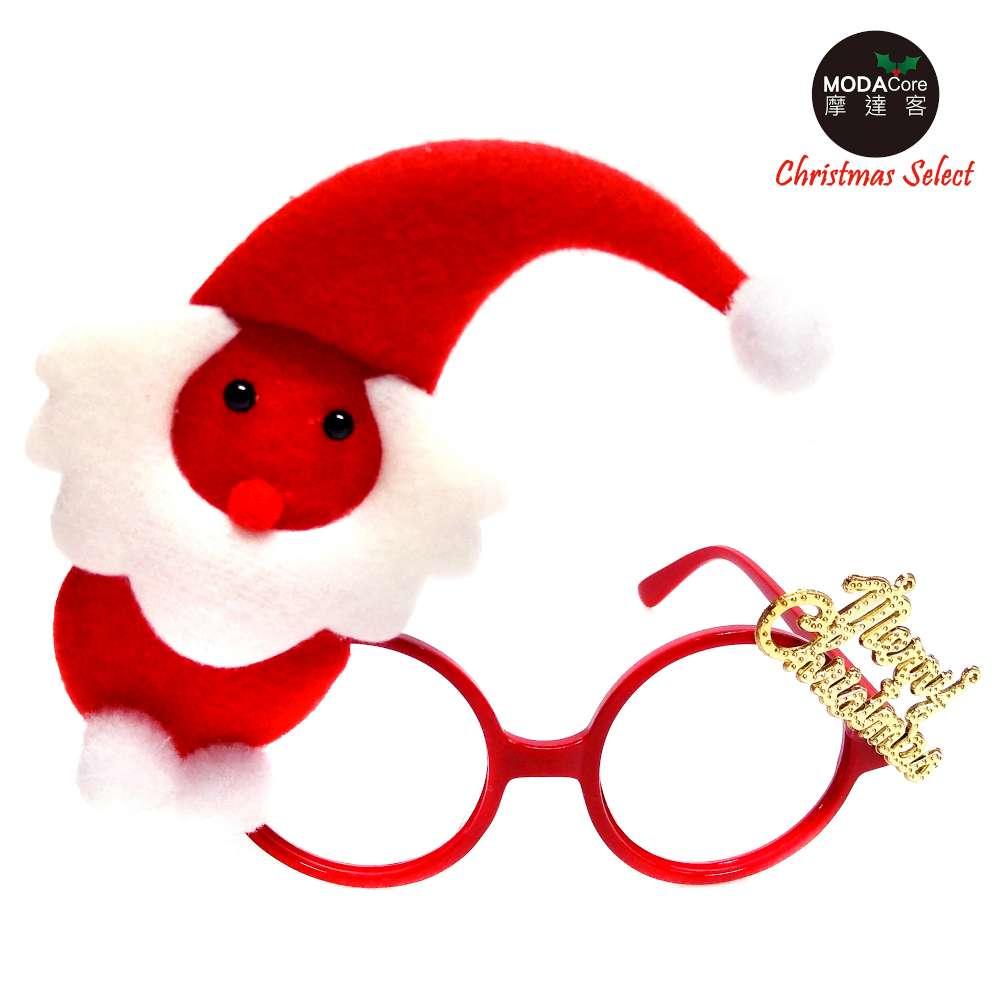 【摩达客】圣诞派对造型眼镜-红白精灵小雪人