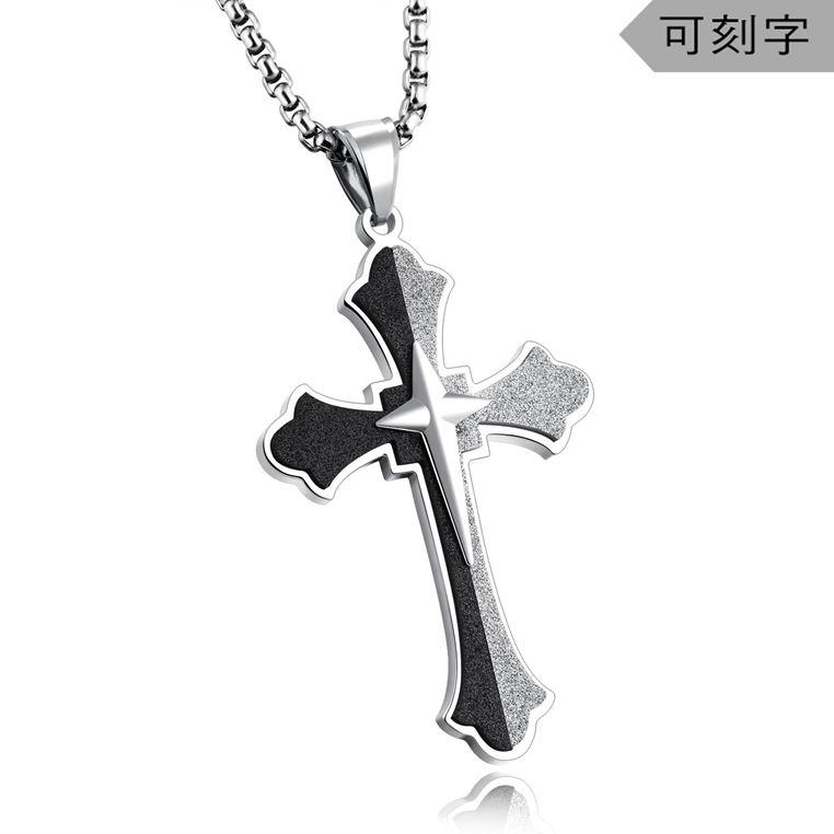 创世十字架纯钢吊坠   NST207YI