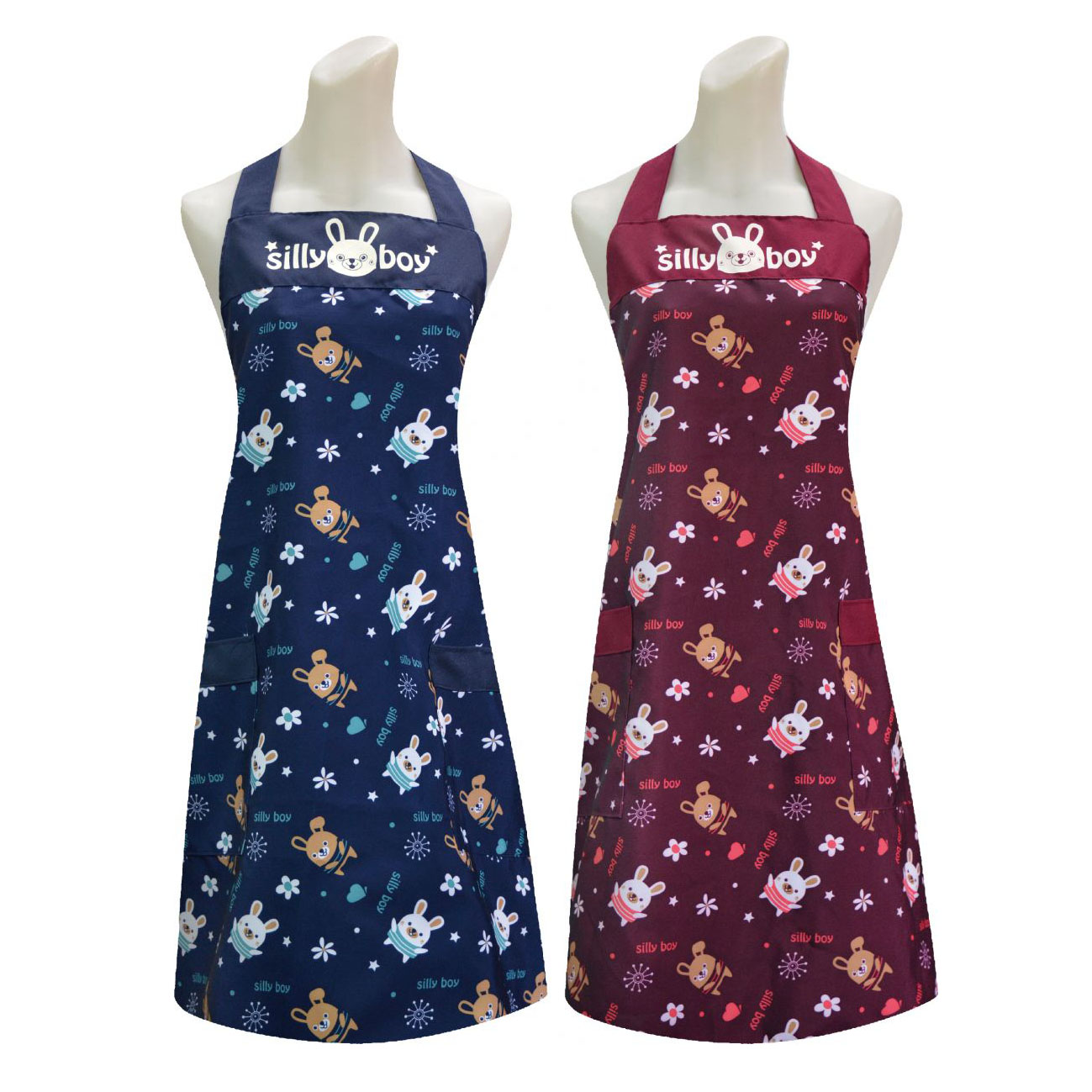 俏皮兔防水围裙 G515 餐饮业 保母 幼儿园 厨房 咖啡店 活动制服围裙