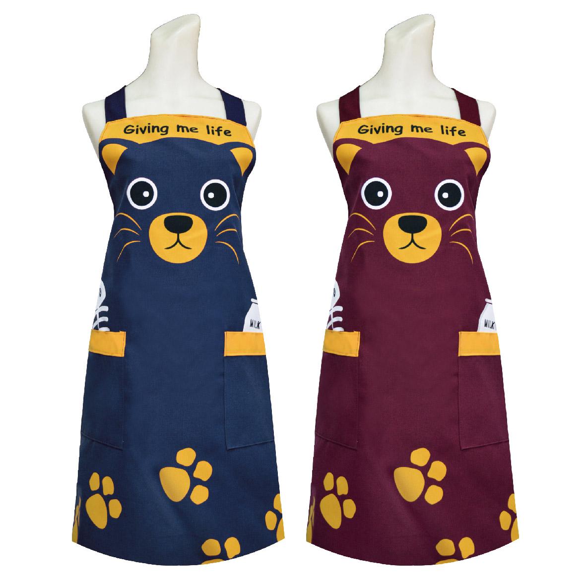 可爱猫头围裙 TT520餐饮业 保母 幼儿园 厨房 咖啡店 活动制服围裙