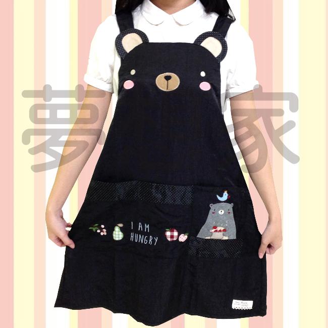 日式和风系列 丝光绵 围裙 甜点小熊 《 三口袋设计 》 ★超有质感喔★ 梦想家精品生活家饰