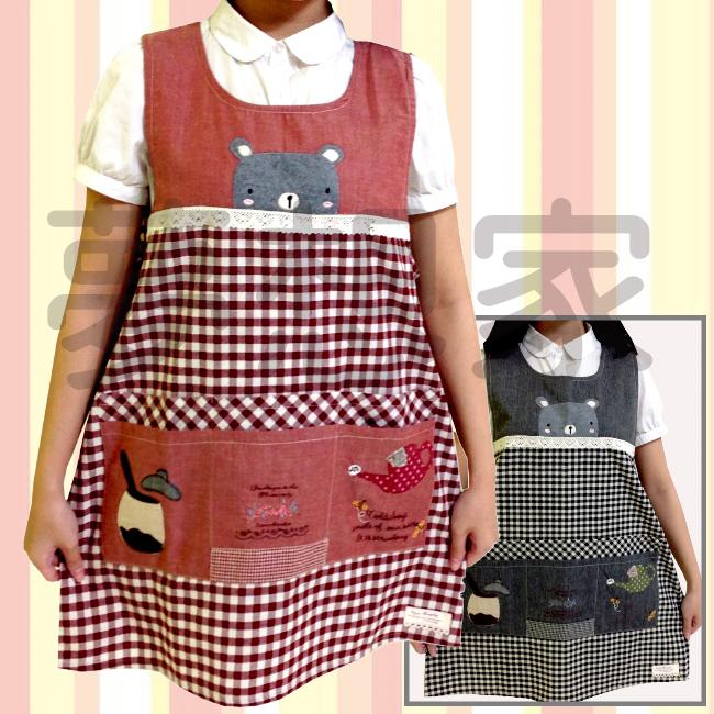 日式和风拼布 围裙 小熊下午茶 《 六口袋设计 》 ★超有质感喔★ 梦想家精品生活家饰