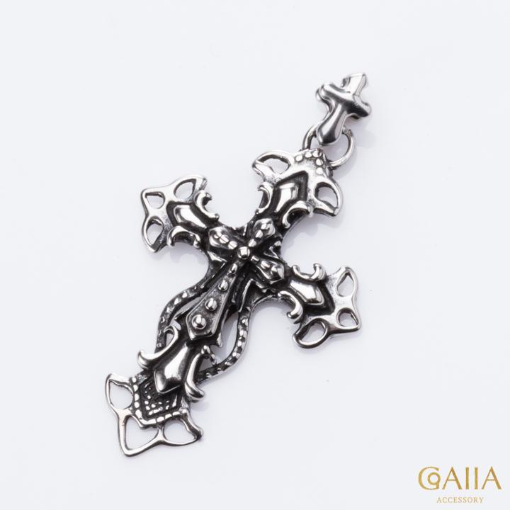 信仰加注十字纯钢吊坠 NST014GUN